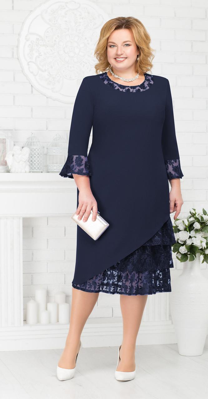 Платье Ninele-2182/3, темно-синий, 54