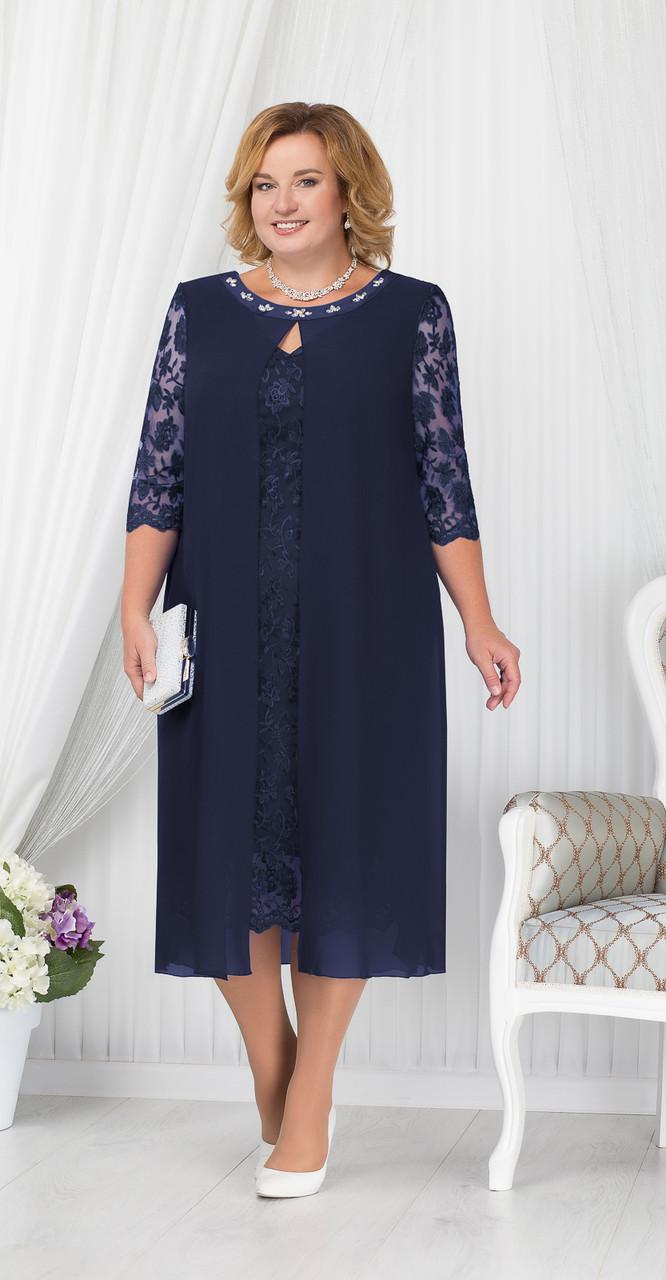 Платье Ninele- 7204/1, темно-синий, 54