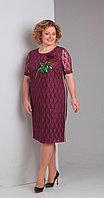 Платье Диамант-1316/1, бордовый, 52