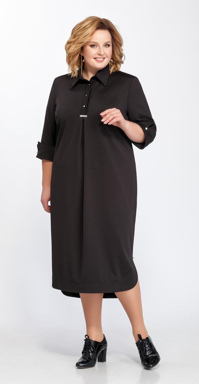 Платье Pretty-586/1, черный, 56