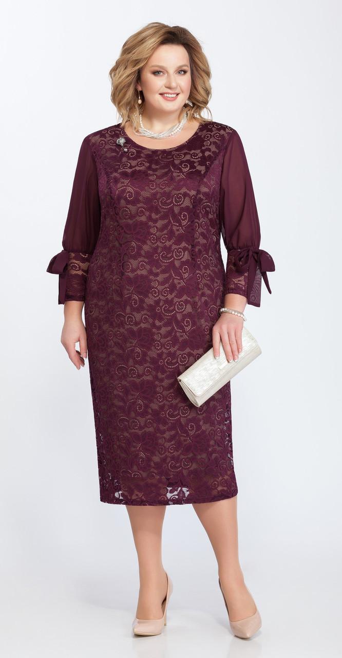 Платье Pretty-809/2, марсала, 56