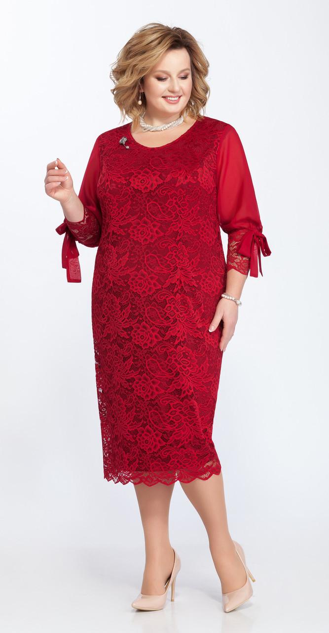Платье Pretty-809/3, красный-красный, 56