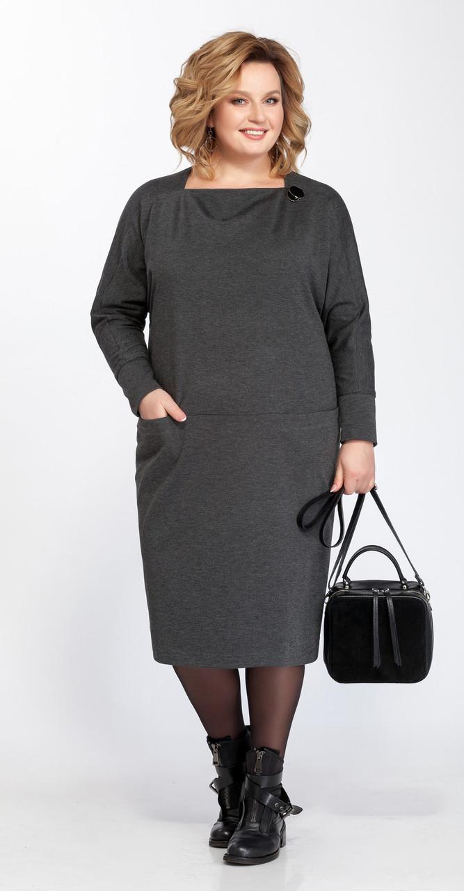Платье Pretty-830, серый, 56