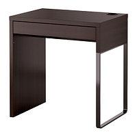 Стол письменный МИККЕ черно-коричневый 73x50 см ИКЕА, IKEA