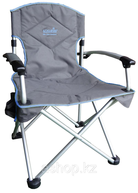 Кресло складное Norfin Family Orivesi NFL, Нагрузка (max): 120 кг, Карманы, Подлокотники, Цвет: Серый, (NFL-20