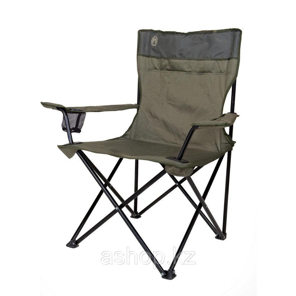 Кресло складное Coleman Standard quad, Нагрузка (max): 113 кг, Подстаканник, Подлокотники, Цвет: Коричневый, У