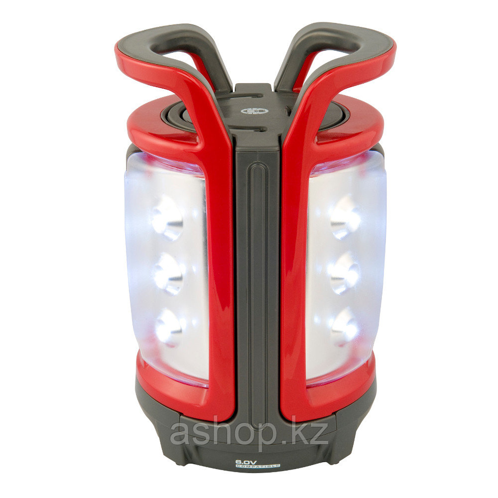 Лампа электрическая ручная Coleman CPX 6 Duo LED, Дальность луча: 10 м, Яркость: 216 лм, Цвет: Красный, Упаков