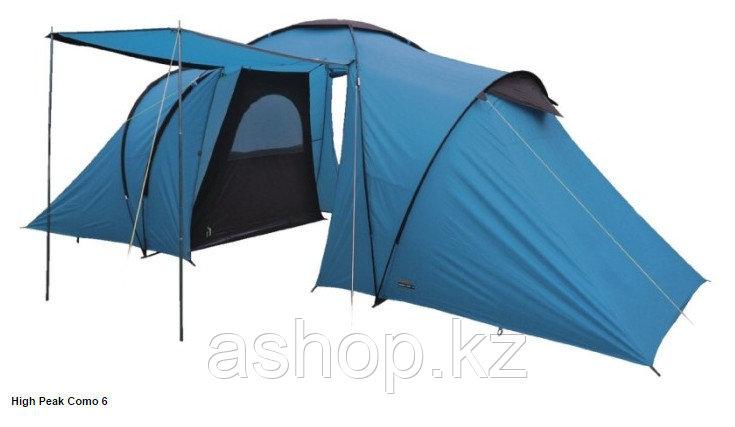 Палатка кемпинговая High Peak Como 6, Кол-во человек: 6, Входов/комнат: 2/2, Тамбуров: 1, Внутренняя палатка: - фото 1