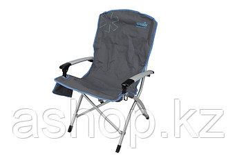 Кресло складное Norfin Family Ulvila NFL, Нагрузка (max): 120 кг, Карманы, Подлокотники, Цвет: Серый, (NFL-202