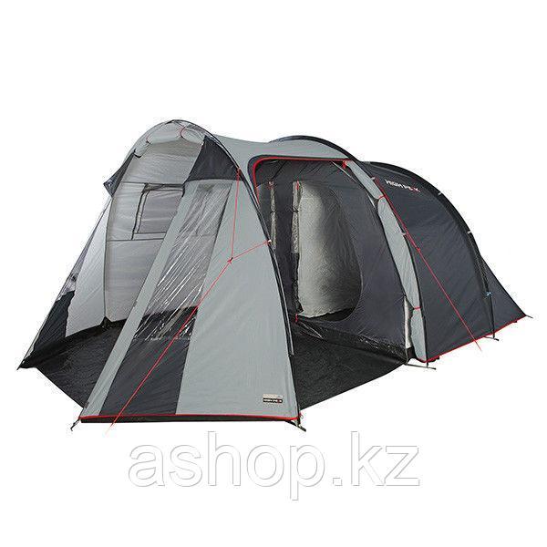 Палатка двухслойная High Peak Ancona 4, Кол-во человек: 4, Входов/комнат: 2/2, Тамбуров: 1, Внутренняя палатка