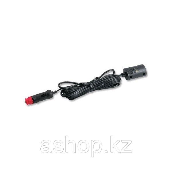 Удлинитель EZetil Extension Cord, Длина: 4,0 м., Прикуриватель M-->Прикуриватель F, Цвет: Чёрный, Упаковка: Бл