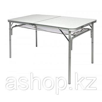 Стол складной Norfin Gaula-L, Материал: Алюминий, МДФ, 30 кг, Цвет: Серебристый, Упаковка: Коробка, (NF-20307)