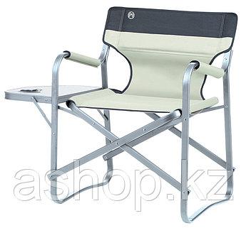 Кресло складное Coleman Deck chair WT, Нагрузка (max): 113 кг, Подстаканник, Подлокотники, Столик, Цвет: Хаки,