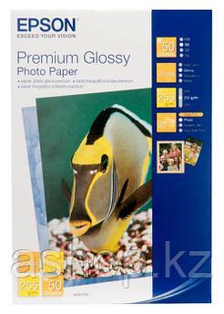 Фотобумага Epson Premium Glossy Photo Paper, 10 x 15, односторонняя, глянцевая, 255 г/м ², Упаковка: 50 листов