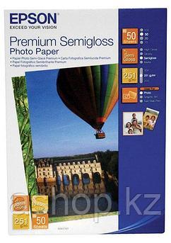 Фотобумага Epson Premium Semigloss Photo Paper, 10 x 15, односторонняя, полуглянцевая, 260 г/м ², Упаковка: 50