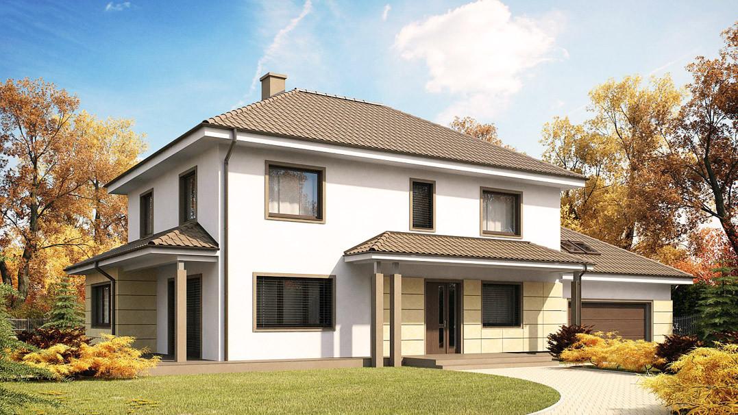Строительство дома «под ключ» по проекту «Селена»