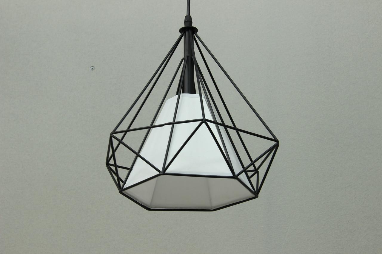Одноламповый светильник в стиле LOFT черный