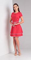 Платье Диамант-1400, красный, 44
