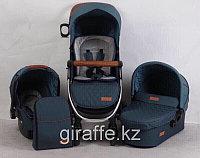 Детская коляска SKILLMAX 3в1 зеленый