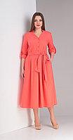 Платье Диамант-1407, красные тона, 52