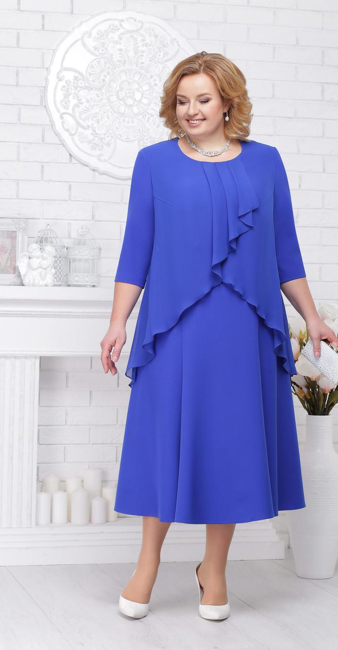 Платье Ninele-2192/2, васильковый, 56