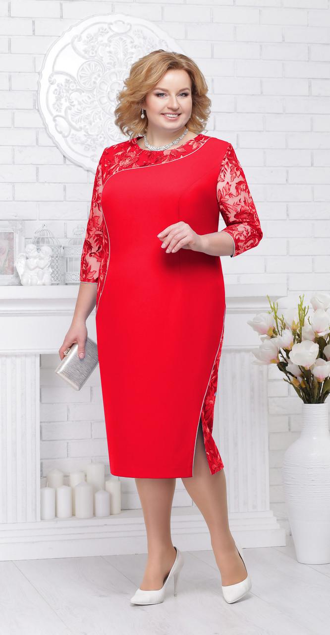 Платье Ninele-5695/1, красный, 56