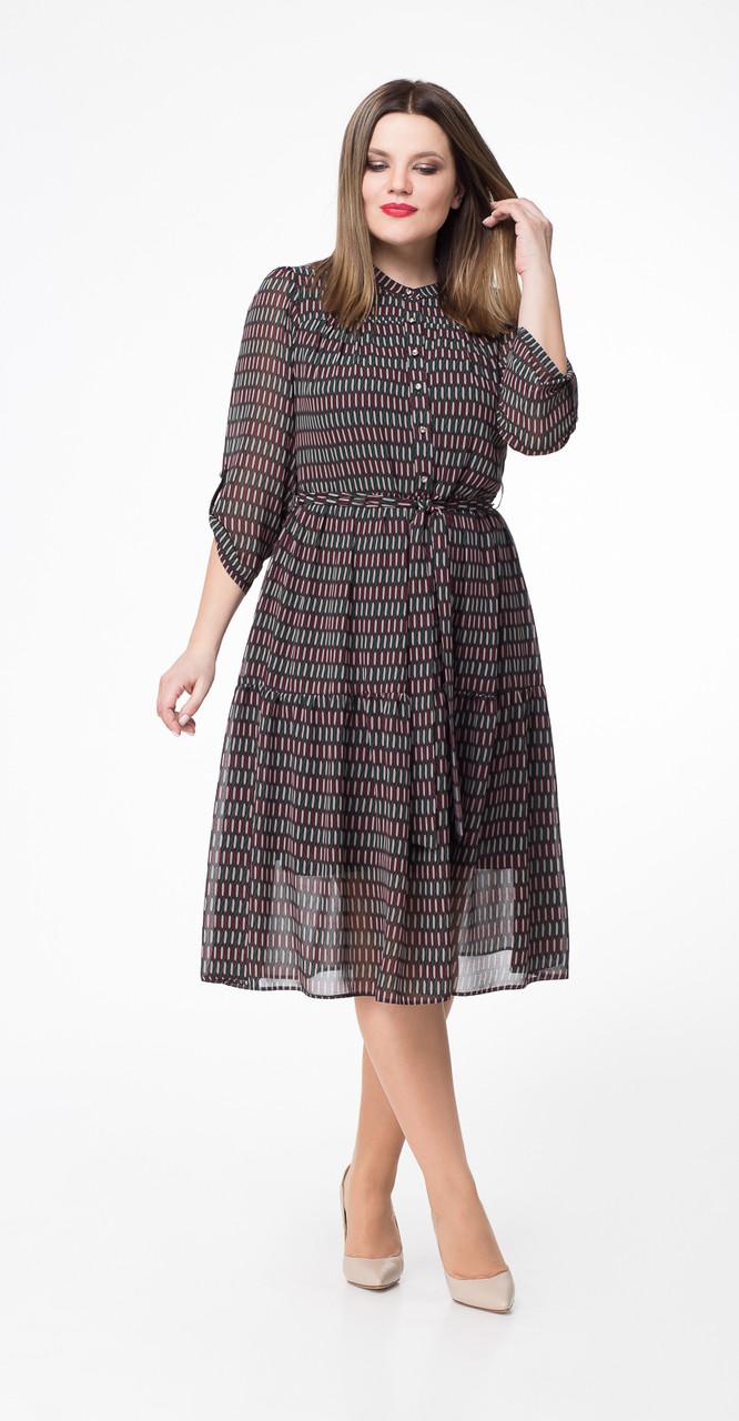 Платье Дали-5324, коричневые тона, 48