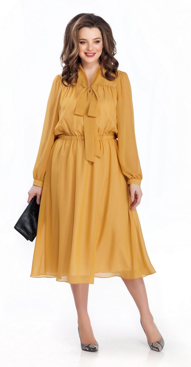Платье TEZA-144, желтый, 48