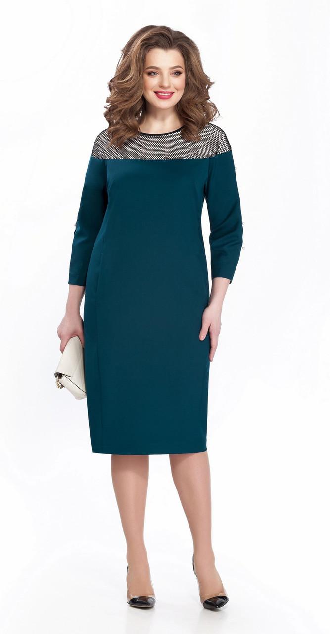 Платье TEZA-153, темная бирюза, 48