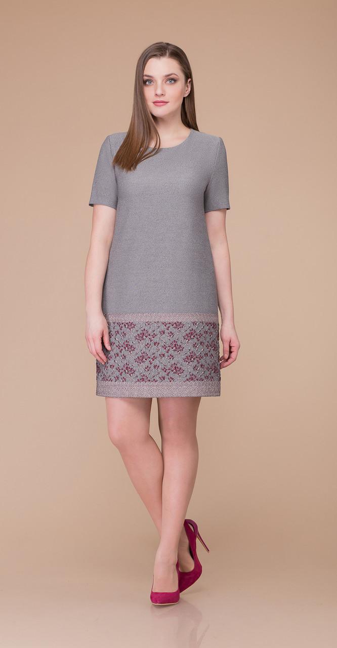 Платье Svetlana Style-1182, серый, 50