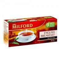 Milford черный чай Английский завтрак, 20 пакетиков