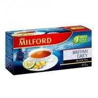 Milford черный чай Бритиш грей, 20 пакетиков