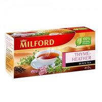 Milford черный чай с чабрецом и цветками вереска, 20 пакетиков