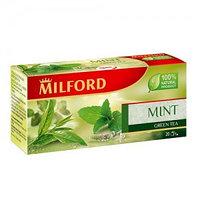 Milford зеленый чай с мятой, 20 пакетиков