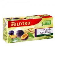 Milford зеленый чай слива-женьшень, 20 пакетиков
