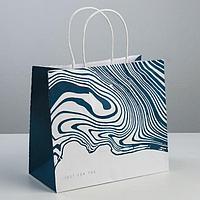 Пакет подарочный крафтовый Just for you, 25 × 22 × 12 см, фото 1