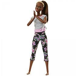 """Barbie """"Безграничные движения"""" Кукла Барби Афроамериканка - Цветочные"""