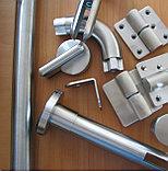 Металическая фурнитура для сантехнических кабин, перегородок, фото 3