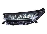Передняя альтернативная оптика на Highlander 2018-20  дизайн Audi, фото 1