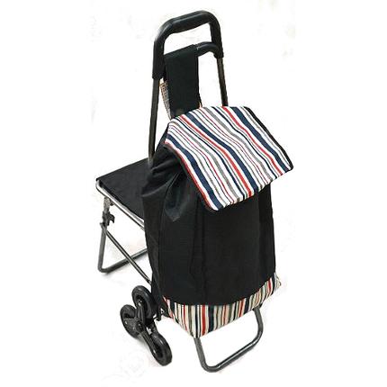 Сумка-тележка для подъёма по ступенькам со стульчиком( расцветки уточняйте), фото 2