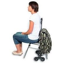 Сумка-тележка для подъёма по ступенькам со стульчиком( расцветки уточняйте), фото 3
