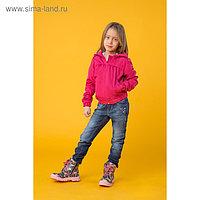 Ветровка для девочки, рост 122-128 см, цвет розовый 1044