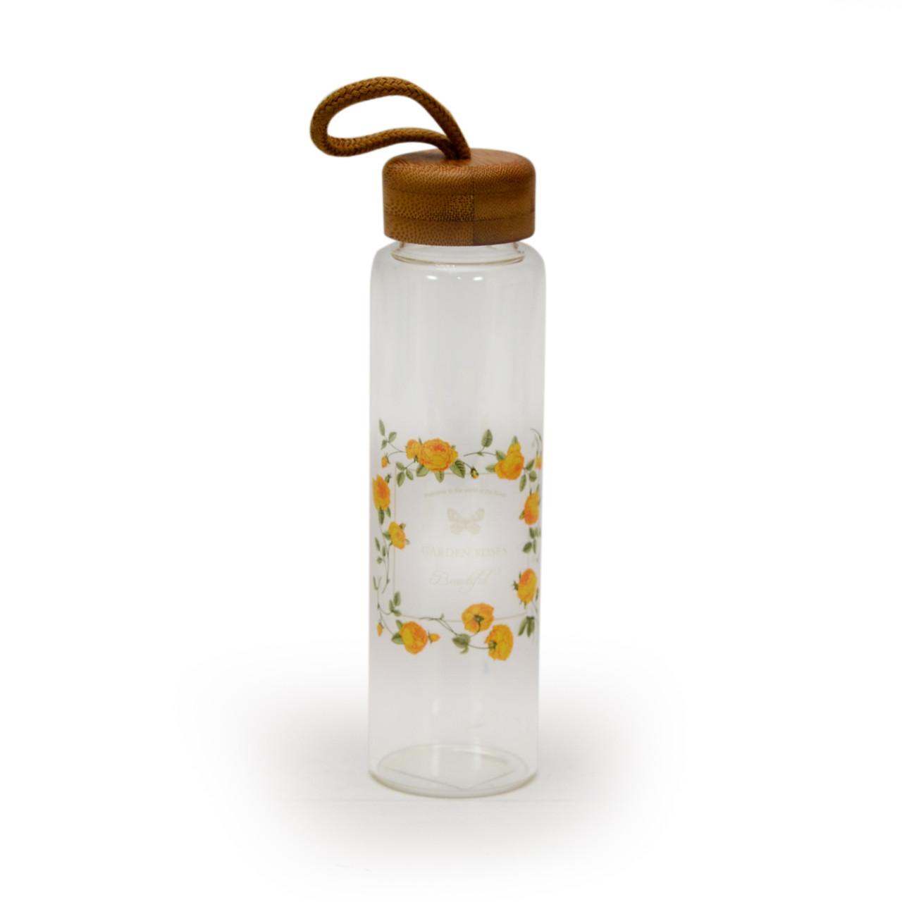 Бутылка с бамбуковой крышкой