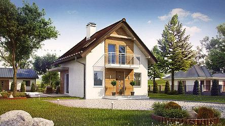 Строительство дома «под ключ» по проекту «Никанор», фото 2