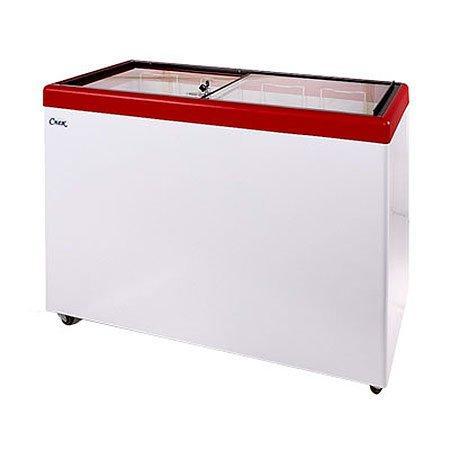 Ларь морозильный Снеж МЛП-400 красный