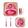 Десткая посуда из бамбукового волокна Розовый фламинго, Алматы, фото 2