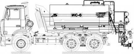Автогудронатор ИС-6М