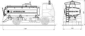 Автотопливозаправщик АТЗ-11-5340