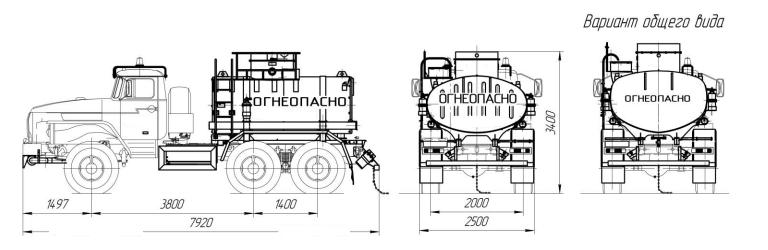 Автоцистерна  АЦ-6,5-4320