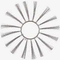 Щётка пучковая ø254х900 (Металлические , сечение проволки 0,4 -0,5 мм.)